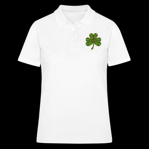 Celtic Knotwork Shamrock - Women's Polo Shirt