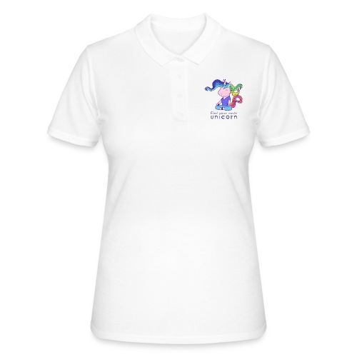 Yoga unicorn in the Lotus - Women's Polo Shirt