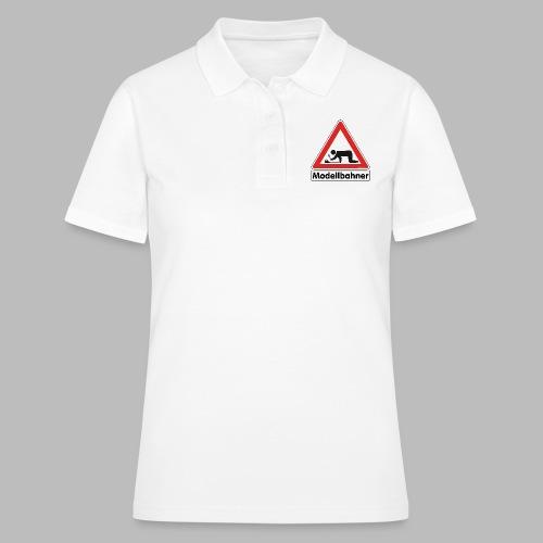 Warnschild Modellbahner E Lok - Frauen Polo Shirt