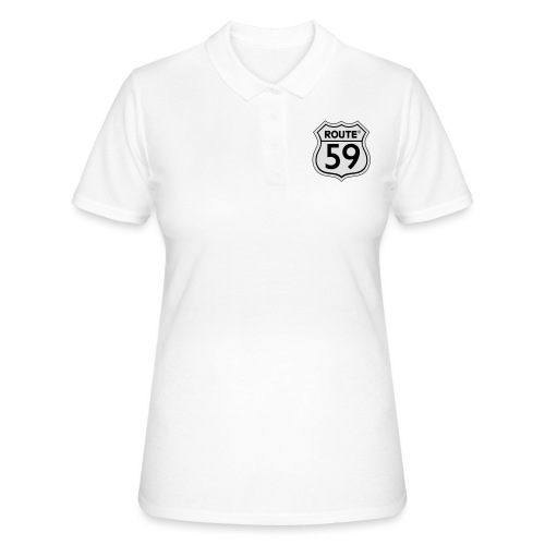 Route 59 zwart wit - Vrouwen poloshirt