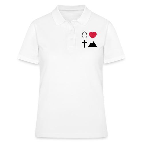 Ei Love Kreuz Berg - Frauen Polo Shirt