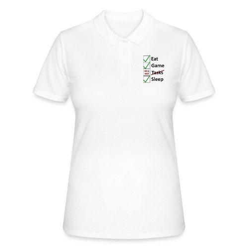 Schedule Shirt Black Version - Frauen Polo Shirt