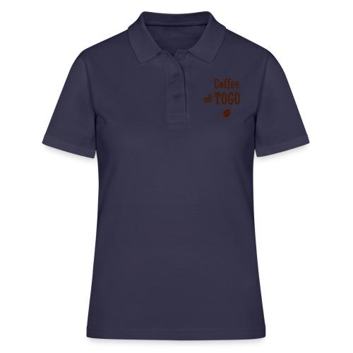 Coffee To Go Togo Kaffee lustig Sprüche - Frauen Polo Shirt