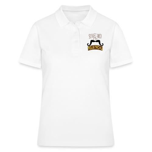citation moustache suivez moi moustachu - Women's Polo Shirt