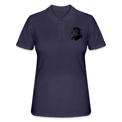 English Bulldog - negative - Women's Polo Shirt