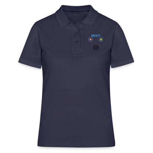Brexit: Press Button To Vote - Women's Polo Shirt