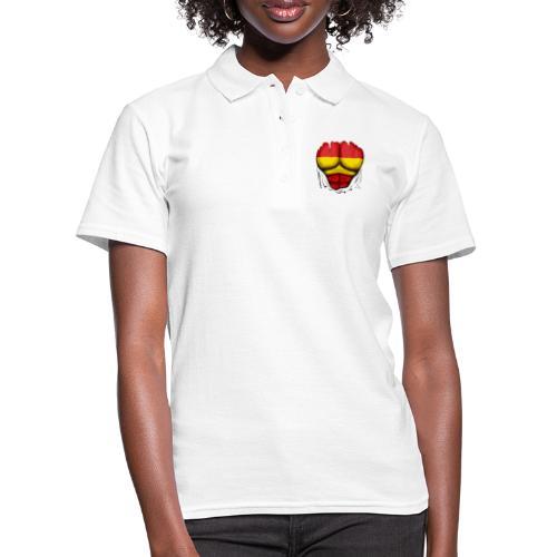 España Flag Ripped Muscles six pack chest t-shirt - Women's Polo Shirt