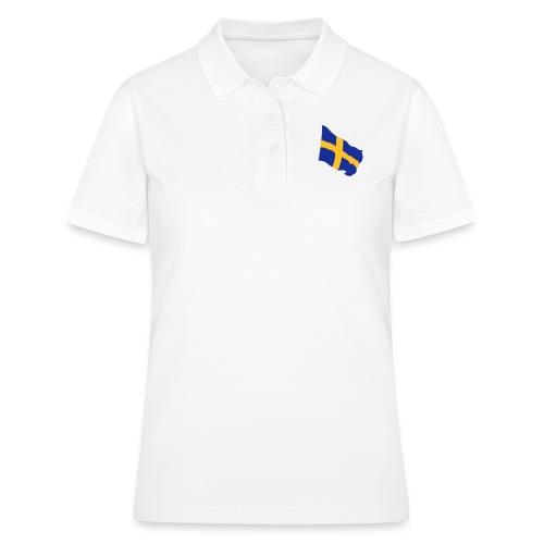 Flagge Schwedenflagge flatternd, Sweden Sverige - Frauen Polo Shirt