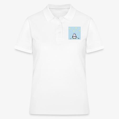 christmas penguin on blue background - Women's Polo Shirt