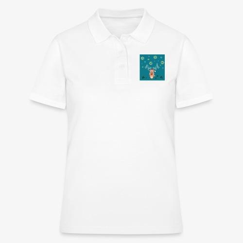 little deer blue background - Women's Polo Shirt