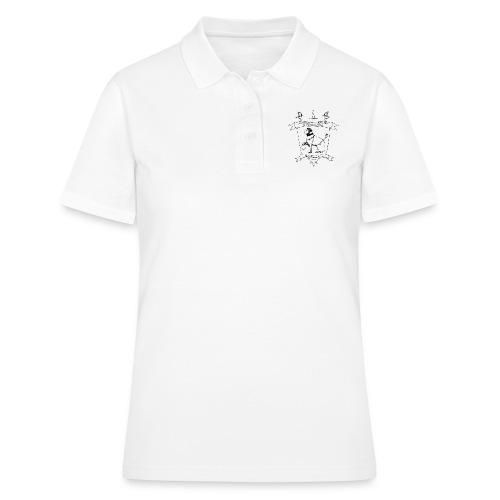 Naisten t-paita, musta logo - Naisten pikeepaita