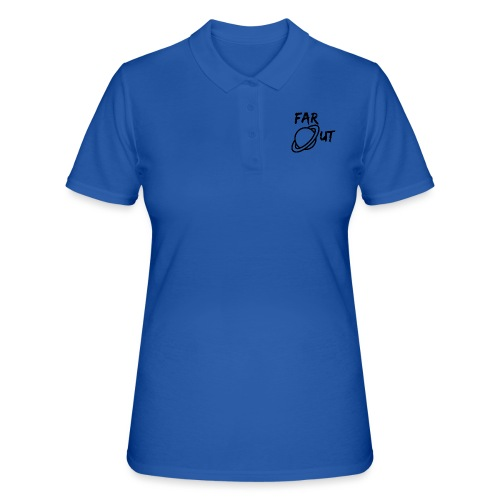 Far_Out_black - Camiseta polo mujer