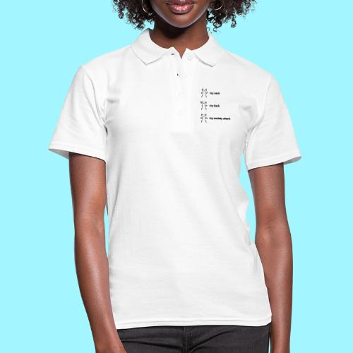 neck back anxiety attack - Women's Polo Shirt