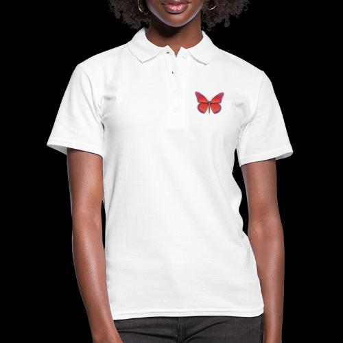 D28 monarch butterfly red lajarindream 4500px - Camiseta polo mujer