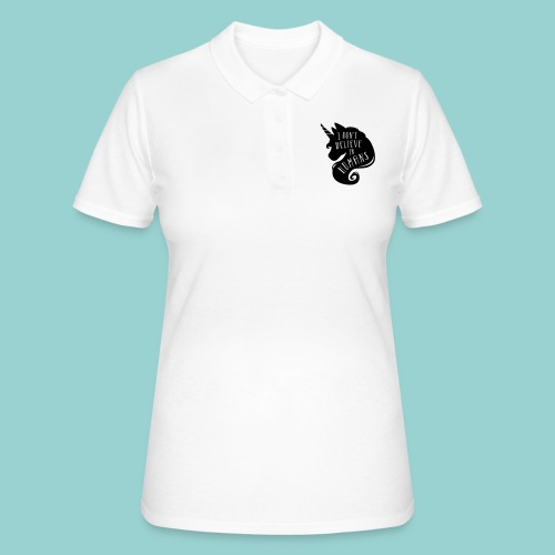 Believe in Humans - Frauen Polo Shirt