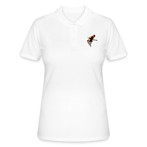 The woman on the guitar - Women's Polo Shirt