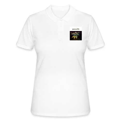 WEED IS LIFE - Frauen Polo Shirt