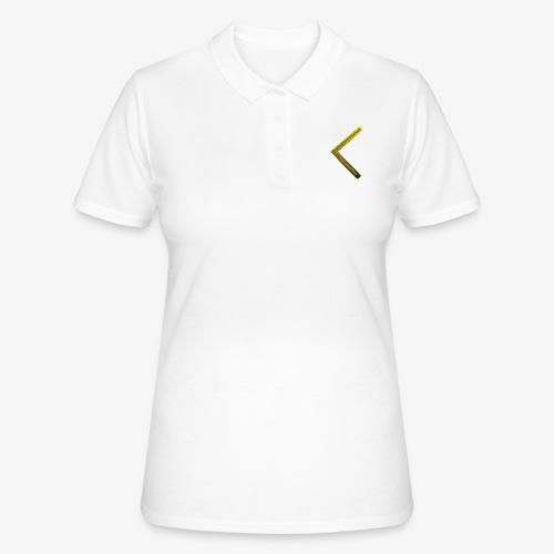 Farbenfrohes Runenmotiv in Trendfarben - Frauen Polo Shirt