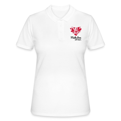 Make Love Not War T-Shirt - Women's Polo Shirt