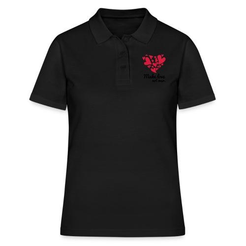 Make Love Not War T-Shirt - Women's Polo Shirt
