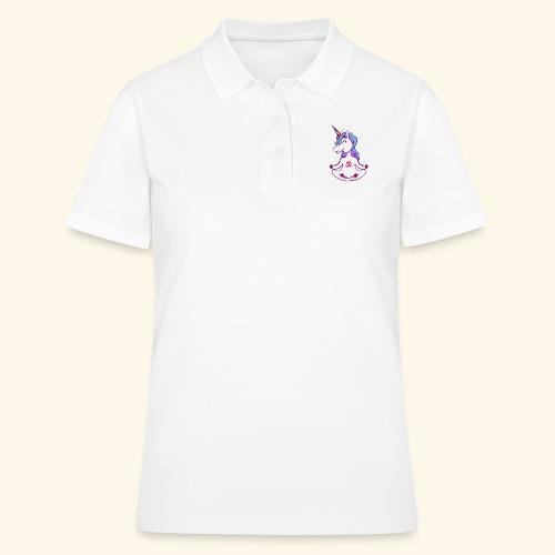 buddhistisches Meditation Einhorn T-Shirt - Frauen Polo Shirt