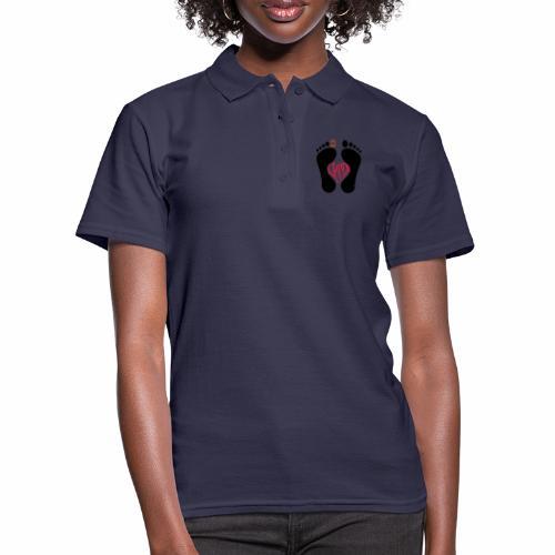 Barfuss-Logo i love you - Frauen Polo Shirt