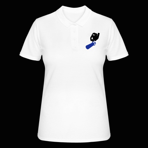 161023 taucher mit ausgefuellt - Frauen Polo Shirt