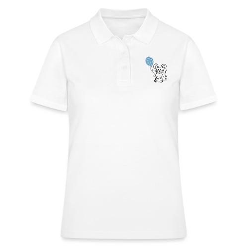 Maus, Luftballon - Frauen Polo Shirt