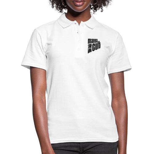 Manga Cult Logo Schwarz - Frauen Polo Shirt