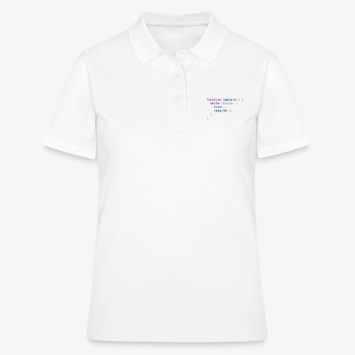 Funny T-Shirt: Samsara in JavaScript Programmer - Women's Polo Shirt