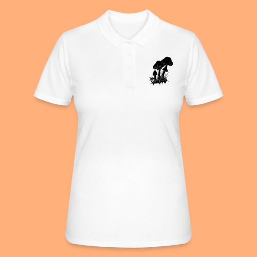 champignons noir et blanc - Women's Polo Shirt