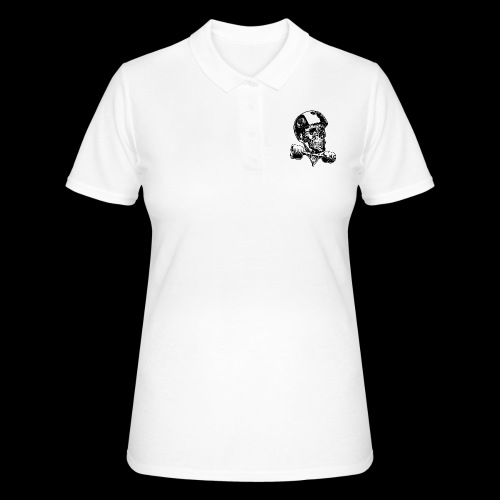 Skull Longboard Rider - positive print - Women's Polo Shirt