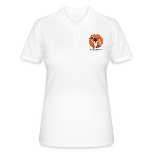 llwynogyn - a little red fox (black) - Women's Polo Shirt