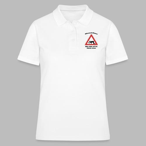 Mikromodell Warnschild Hände - Frauen Polo Shirt