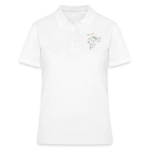 Bird Floral branch design - Women's Polo Shirt