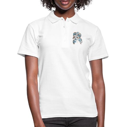 sugar skull line art - Women's Polo Shirt