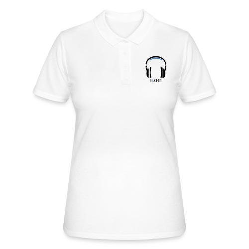 Listen, Black & Azure & Text. - Women's Polo Shirt
