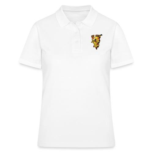 Pizza Schädel mit Messer - Frauen Polo Shirt