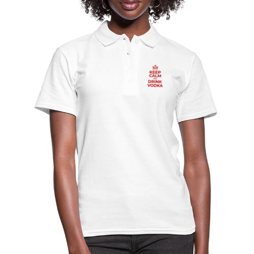 Keep calm and drink vodka (Rot) - Frauen Polo Shirt