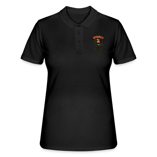 The Spooky Spooktober Pumpkin Dance Meme - Women's Polo Shirt