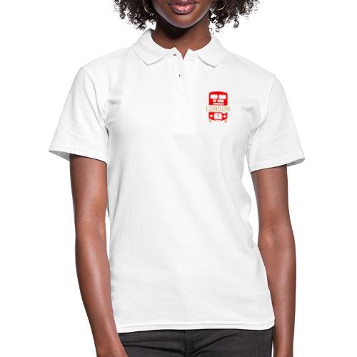London Bus Roter Doppeldecker London Fan Souvenir - Frauen Polo Shirt
