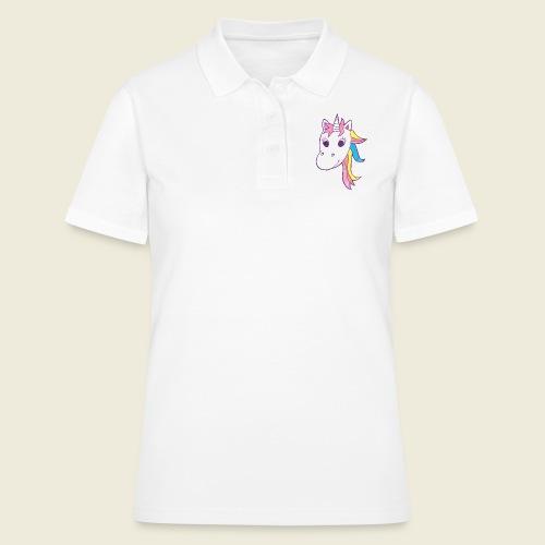 Einhorn Unicorna lila weiß bunte Mähne - Frauen Polo Shirt