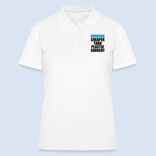 Running is cheaper than - Frauen Polo Shirt