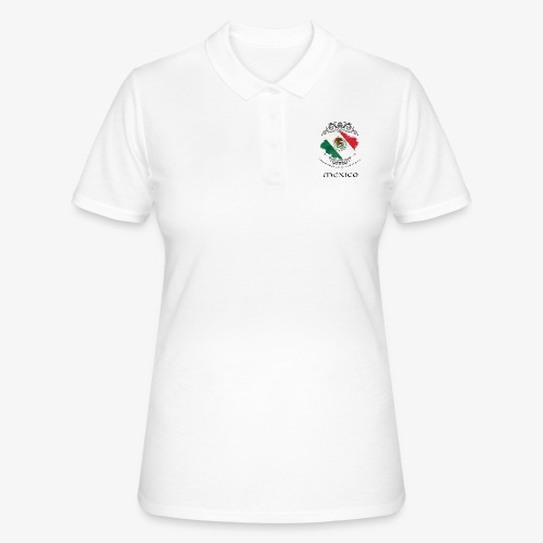 Mexico Vintage Bandera - Frauen Polo Shirt