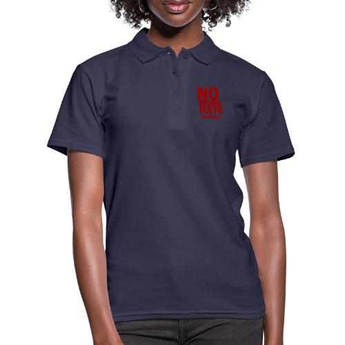 No More Hate- Red Text - Women's Polo Shirt