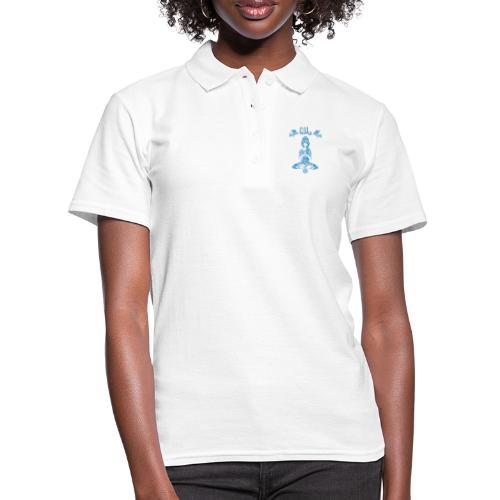 Hippie Yogagirl Blau 2 OM Frieden - Frauen Polo Shirt