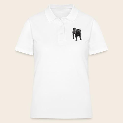 schwarzer Mops - Frauen Polo Shirt