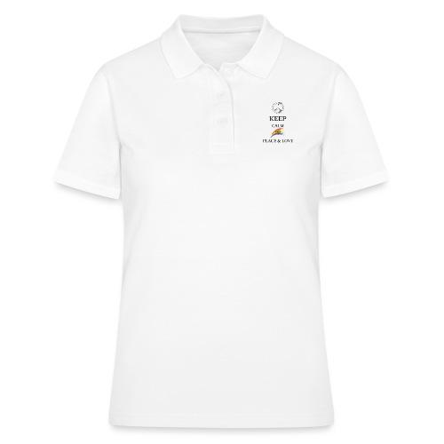 keep calm and Peace & Lov - Women's Polo Shirt