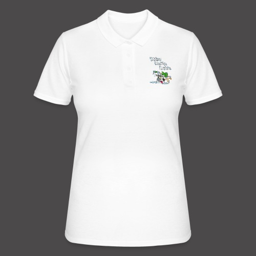 Wicked Washing Machine Cartoon and Logo - Women's Polo Shirt