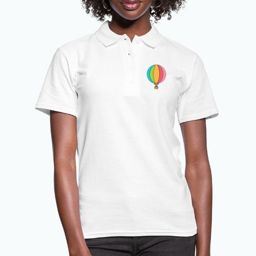 Zebra Zach Air Balloon - Women's Polo Shirt